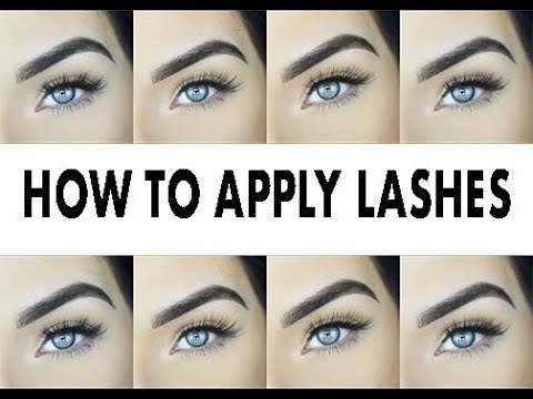 2601b076a72 HOW TO APPLY FAKE EYELASHES | i·ENVY by KISS - YouTube