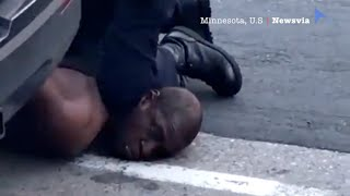 I Can't Breathe!: video of fatal arrest shows U.S police kneeling on a man for seven minutes