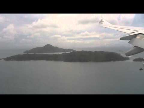 Landing at Seychelles