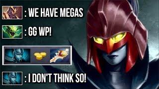 Never Give Up! Megacreeps vs Phantom Assassin Divine Rapier Epic Comeback by Babyknight Dota 2