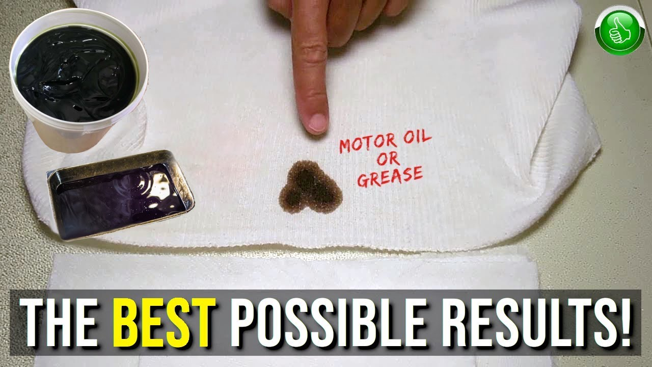 how to easily remove oil from fabrics clothing youtube