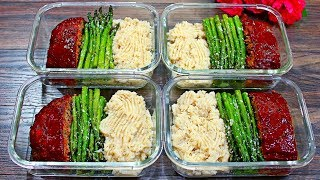 Healthy Meatloaf Meal Prep - How to make Healthy Meatloaf