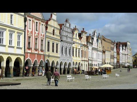 CZECH REPUBLIC UNESCO world heritage town Telc (hd-video)