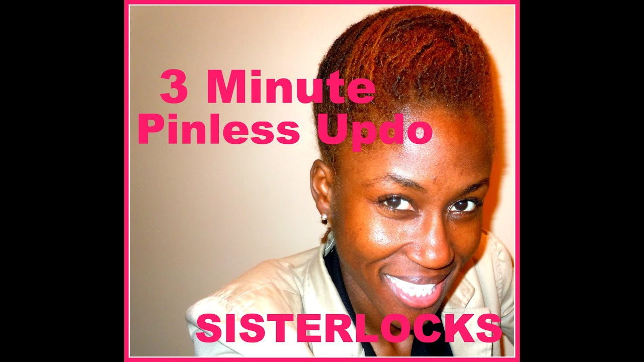 Loc Style Tutorial 3 Minute Pinless Updo Youtube