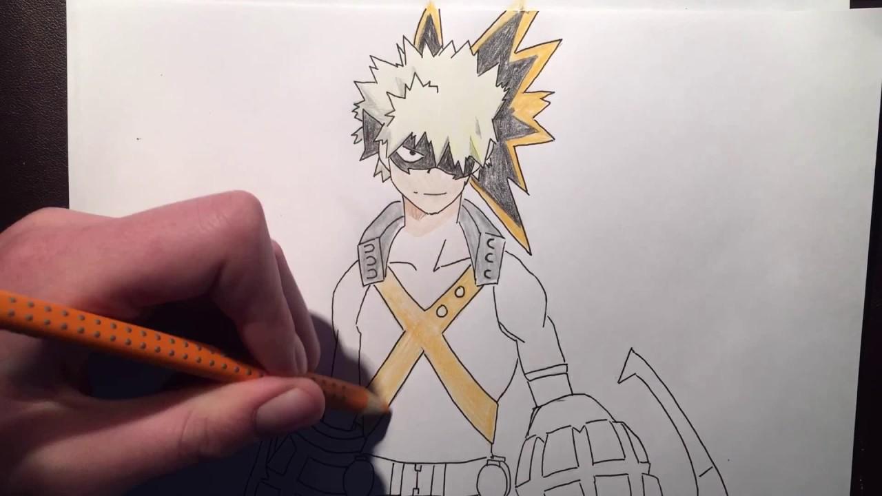 How To Draw Katsuki Bakugou Speed Drawing