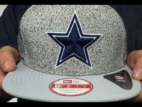 online retailer 6e1eb f19a8 Cowboys  SPECKLED SNAPBACK  Grey-Navy Hat by New Era