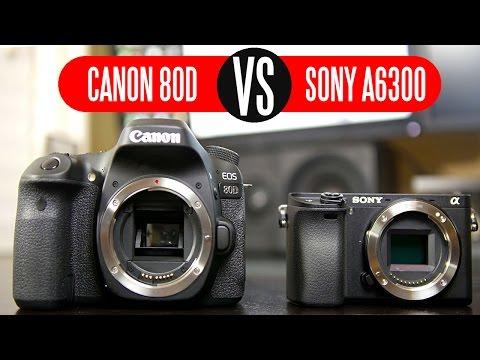 Canon 80D vs Sony A6300 - Video Comparison