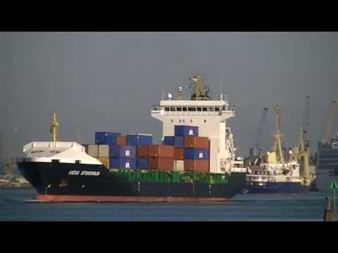 Feeder Container Ships, Katharina B & Vega Stockholm arrive & depart Southampton 2013