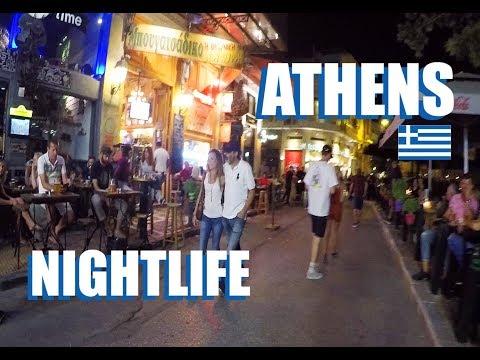 Athens Nightlife Around Monastiraki Square 2019