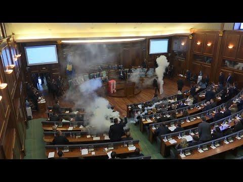 Kosovo Parliament Vote Halted By Tear Gas