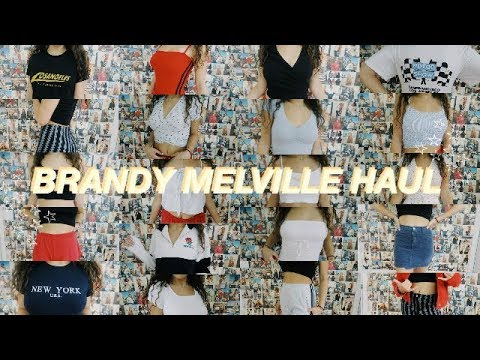 THE BIGGEST BRANDY MELVILLE TRY ON HAUL