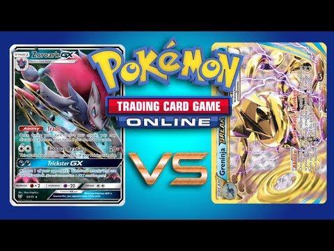 Zoroark GX / Lycanroc GX vs Greninja BREAK - Pokemon TCG Online Gameplay