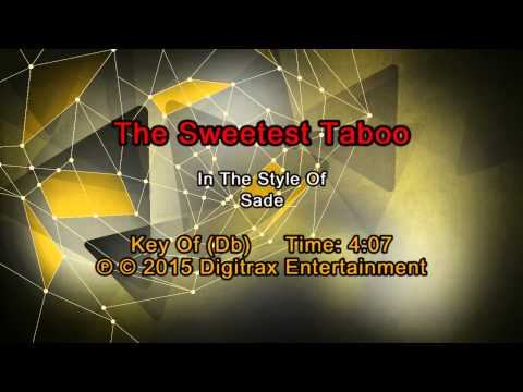 Sade - Sweetest Taboo (Backing Track)