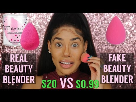 $.99 Cent Beauty Blender VS. $20 Beauty Blender | DUPE OR POOP
