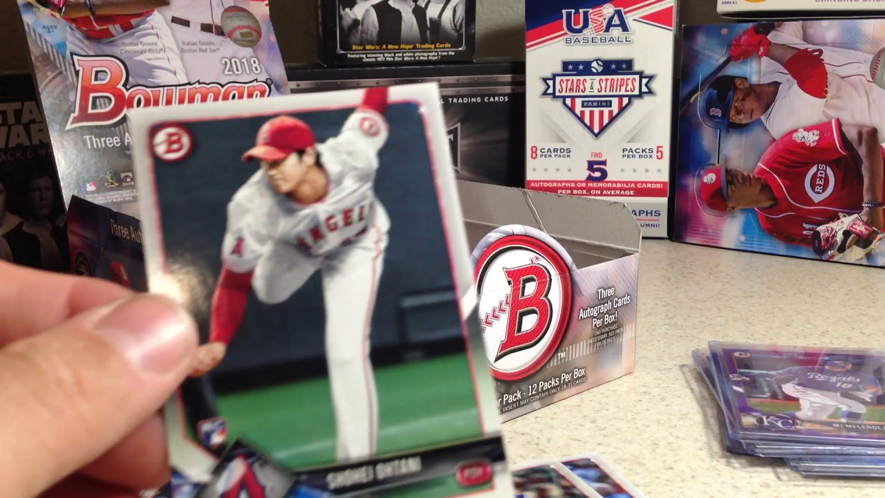 2018 The Search For Ohtani Topps Baseball Cards Opening Series 9 Bowman Jumbo Hobby Box 2