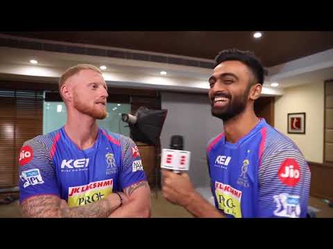 Royals turn reporters: Stokes, Unadkat interview one another