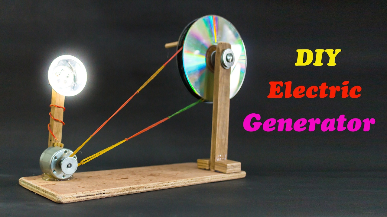 School Science Projects Electric Generator - YouTube