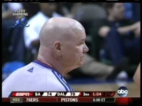 Tim Duncan ejected by Joey Crawford for laughing