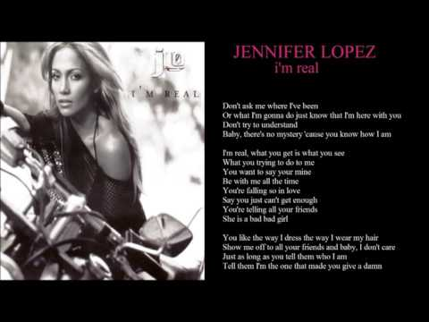 jennifer lopez i'm real + lyrics