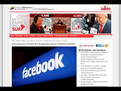 La Radio del Sur -  Israel presiona a Facebook y Google para atacar a Palestina
