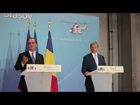 Francois Hollande, vorbind la inaugurarea fabricii Airbus Ghimbav