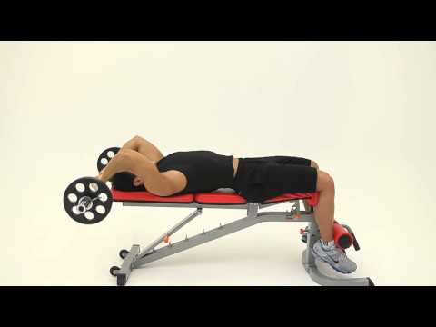 Lying Barbell Triceps Extension.wmv