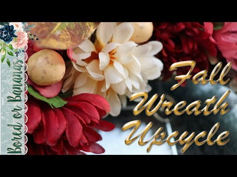 Vlogtober 2019 Day 9:  DIY Fall Wreath Makeover with Dollar Tree Florals