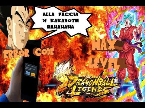 Come risolvere l'error code + MAX LEVEL 300-1000 -  Dragon Ball Legends - ITA #4