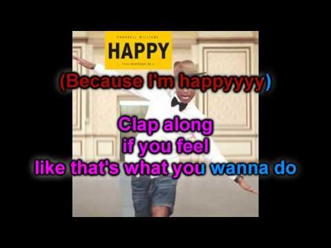 Karaoke : Happy - Pharrell Williams (Official instrumental with Background Vocals)