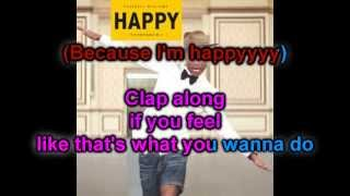 Karaoke Happy Pharrell Williams Official Instrumental With Background Vocals