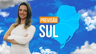 Previsão Sul - Previsão Sul - Pancadas de chuva e ventania nesta sexta-feira.