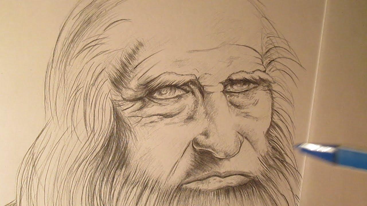 Leonardo Da Vinci, Mi Dibujo De Su Autorretrato, Homenaje