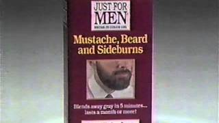 Just For Men Commercial (1993) Brush-in Color Hair Dye Beard and Sideburns Grey Hair Sneaking Up