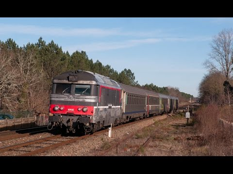 Compilation trains diesel SNCF & privés 2017