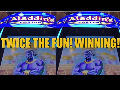 ALADDIN'S FORTUNE 3D SLOT MACHINE BONUS-WINNING- LIVE PLAY