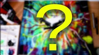 "Ma première toile ""abstraite"" !?"