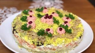 Салат 🔶« Печень трески под шубой»🔶.