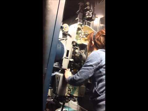Threading and starting 70mm film - Interstellar