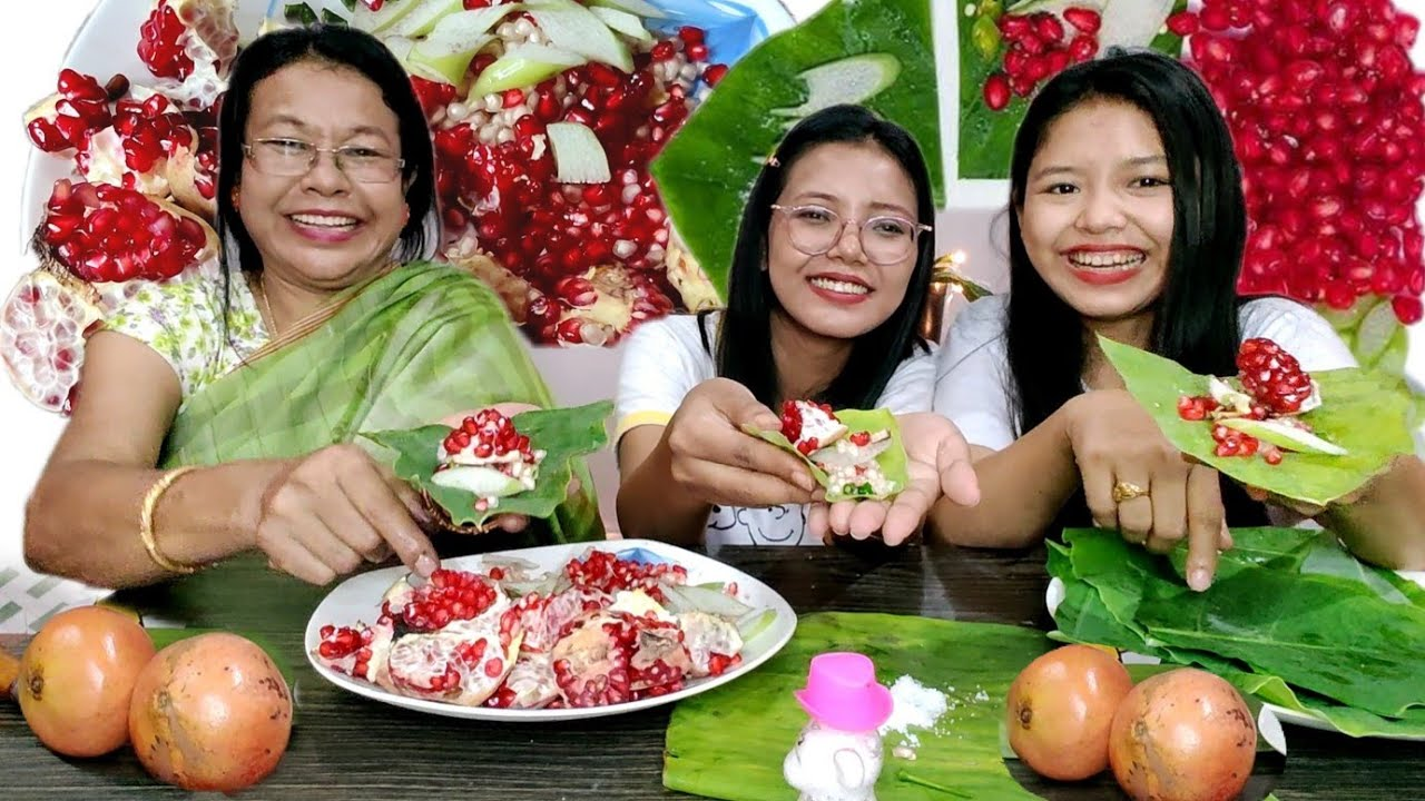 NONG MARAKTA KAMPHOI CHABA | POMEGRANATE |MANIPURI EATING VIDEO | TERESA MEINAM | EATING VLOG #1