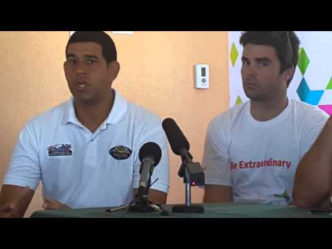 Top Barbadian Rally Drivers at launch of International Race Meet CMRC 2014  Round One