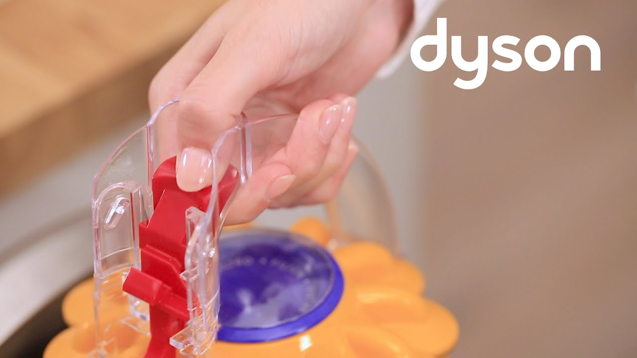 dyson light ball™ upright vacuum - emptying and cleaning the clear