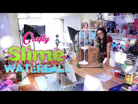 Crafty: Time Lapse - How to Make: Doll SLIME Waterfall - Behind the Scenes