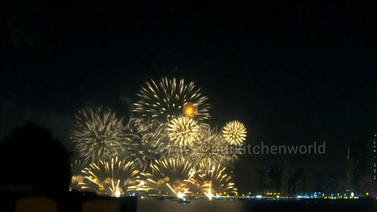 New Year Fireworks In Sharjah - YouTube