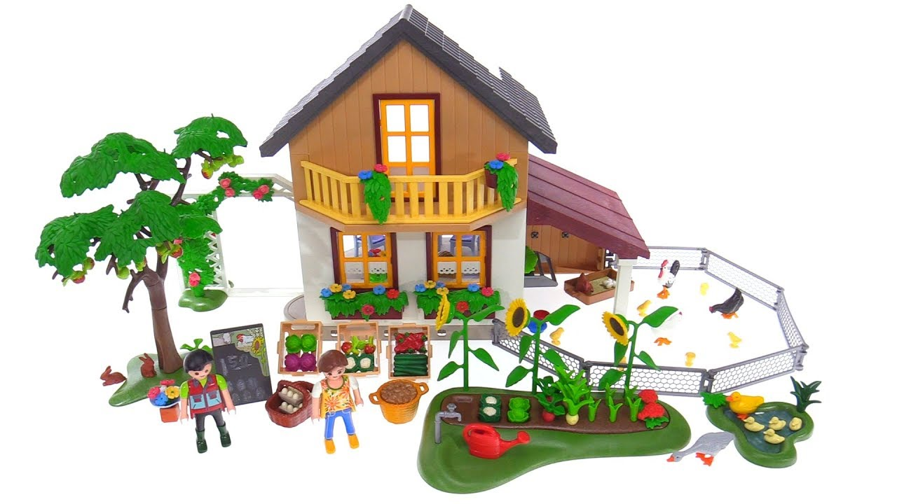Playmobil Farm House with market 5120 review! - YouTube for Farmhouse Playmobil  585hul
