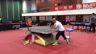 20170501 Liu Shiwen vs Xiao Zhan multiball training