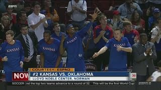 #2 Kansas hands Oklahoma 7th straight loss, 81-70