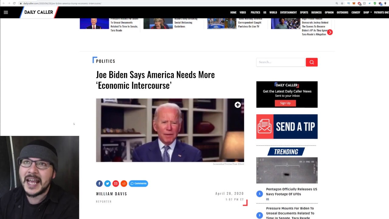 """Crazy Joe Biden Calls For More """"Economic Intercourse,"""" It's Time To STOP Protecting T"""