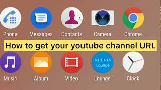 How to get your youtube channel URL on your phone and how to copy// Tagalog