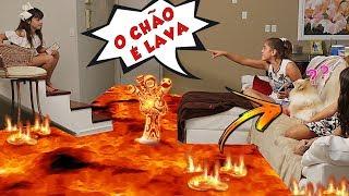 O CHÃO É LAVA DENTRO DE CASA 3 - THE FLOOR IS LAVA - Mileninha