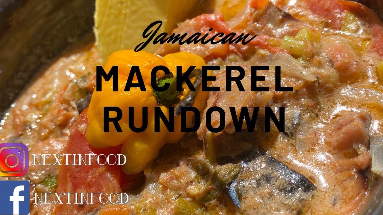 jamaican mackerel run down  youtube